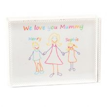 Child's Artwork Crystal - Unique Personalised Glass Gift From Children